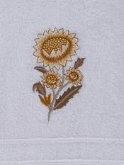 Off White & Yellow Niagha Hand Towel