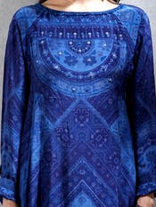 Indigo Blue Bandhej Print Kurta with Dhoti Pants