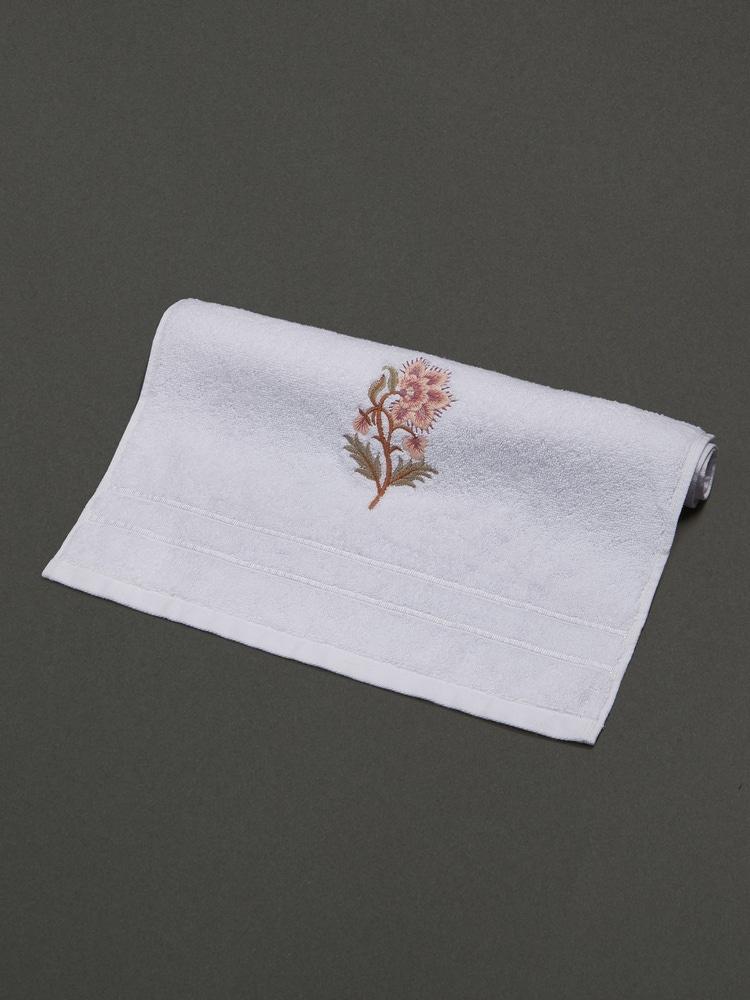 Off White & Pink Niagha Hand Towel