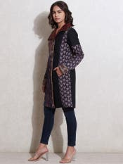 Midnight Blue Quilted Coat
