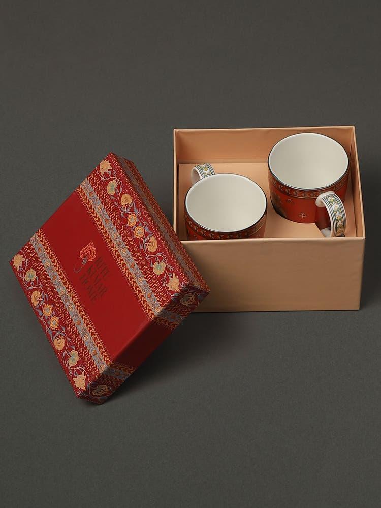 Red Lavana Mugs (Set of 2)