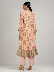 Baby Pink Floral Print Suit Set