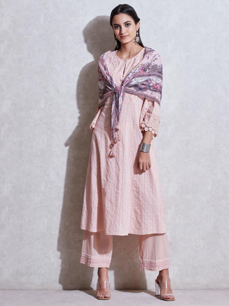 Pink Cotton Suit Set