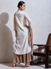 Off White Cotton Suit