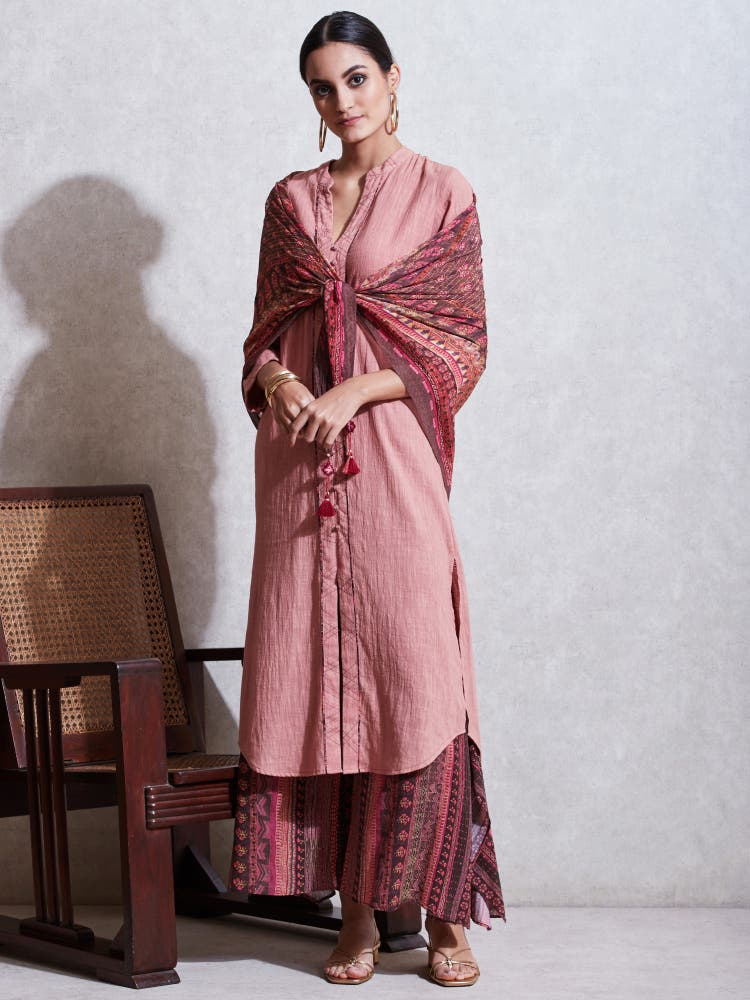 Rose Pink Cotton Suit