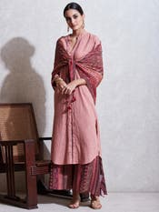 Rose Pink Cotton Suit