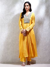 Yellow Embroidered Suit Set