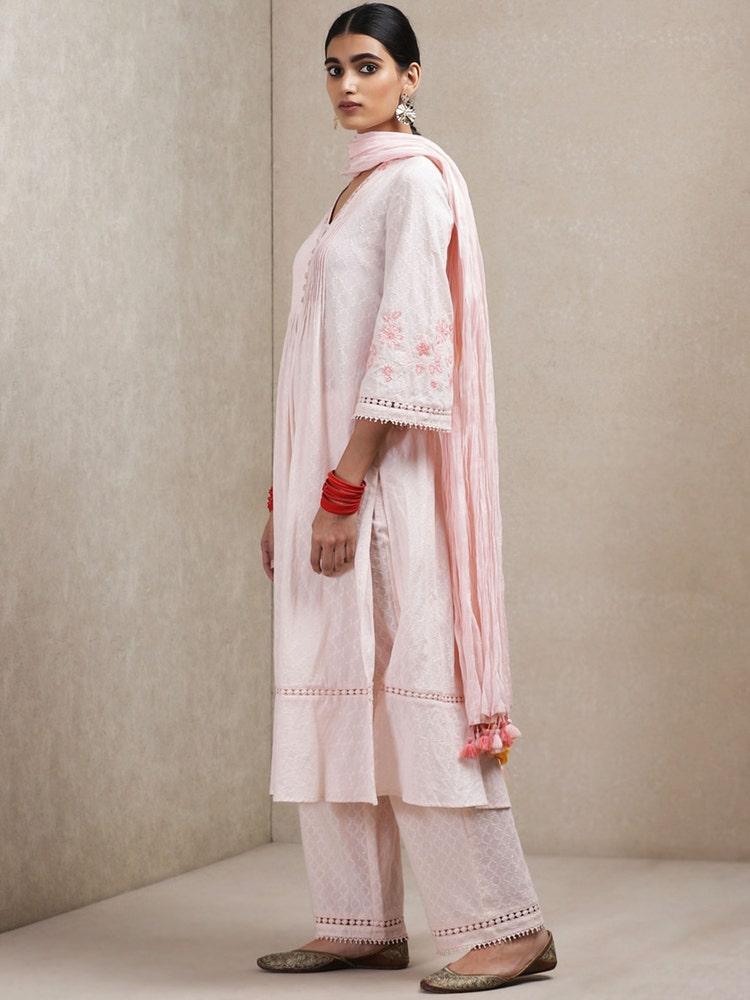 Pink Self-Work Suit Set