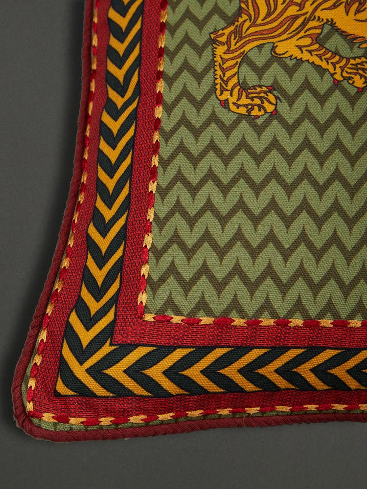Green Baagh Cushion with Filler