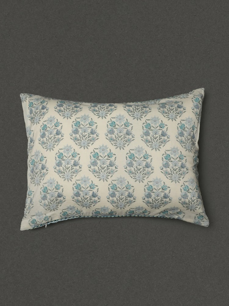 Turquoise Villa Printed Rectangle Cushion With Filler