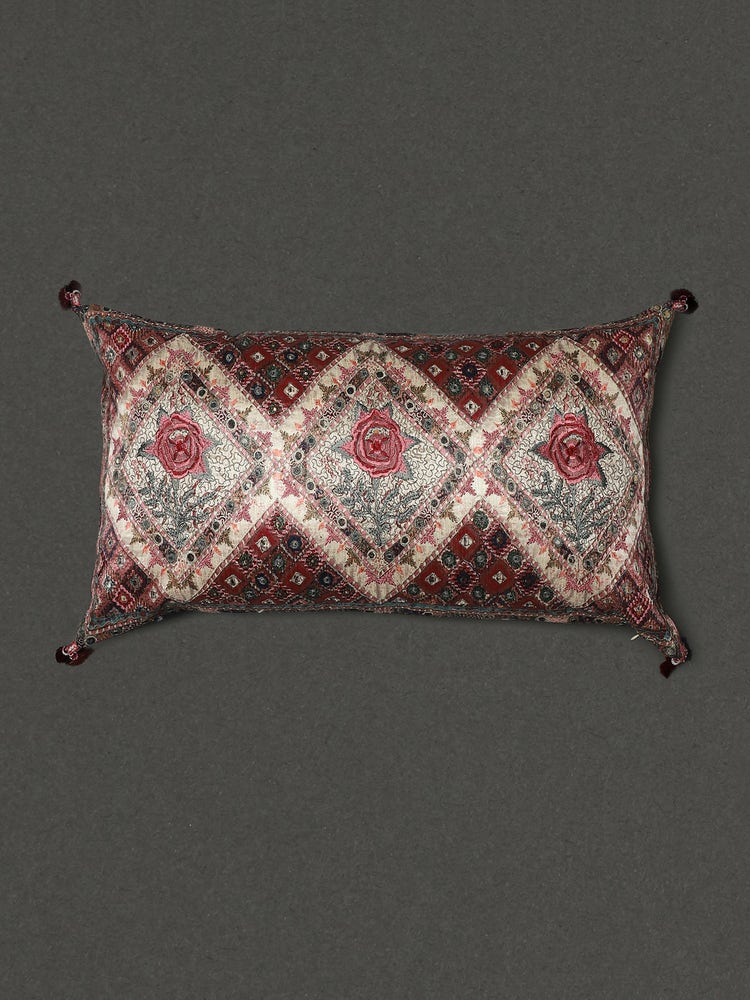 Ivory Lavana Printed Rectangle Cushion With Filler