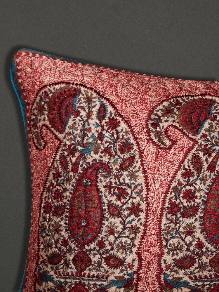Red Kalash Rectangle Cushion with Filler