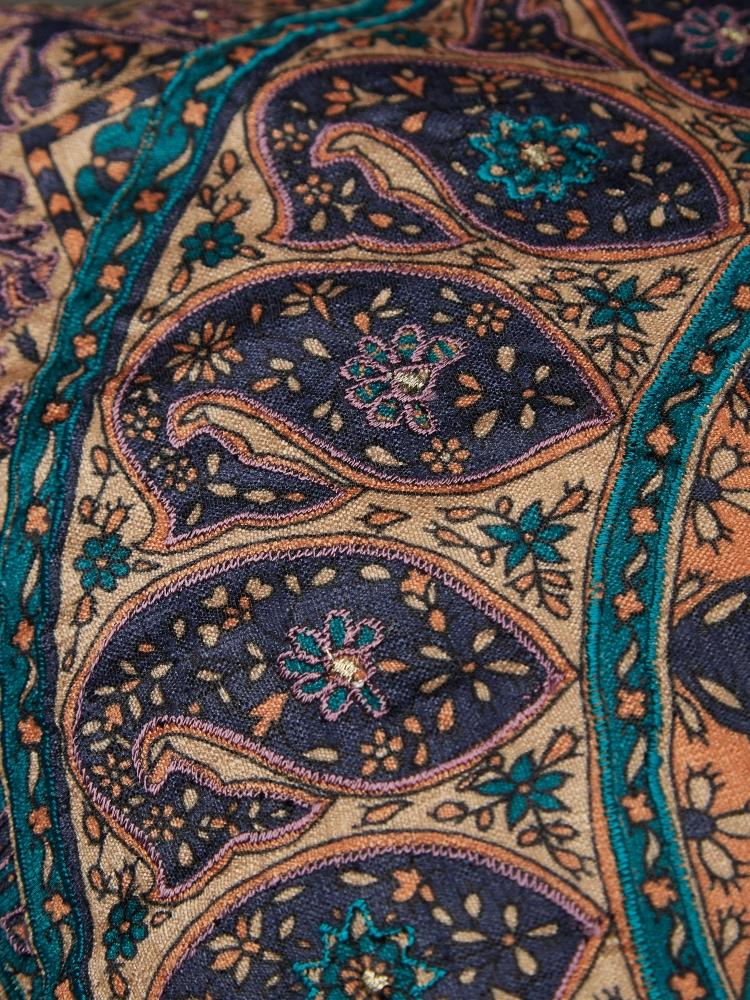 Blue Jaamevar Cushion with Filler