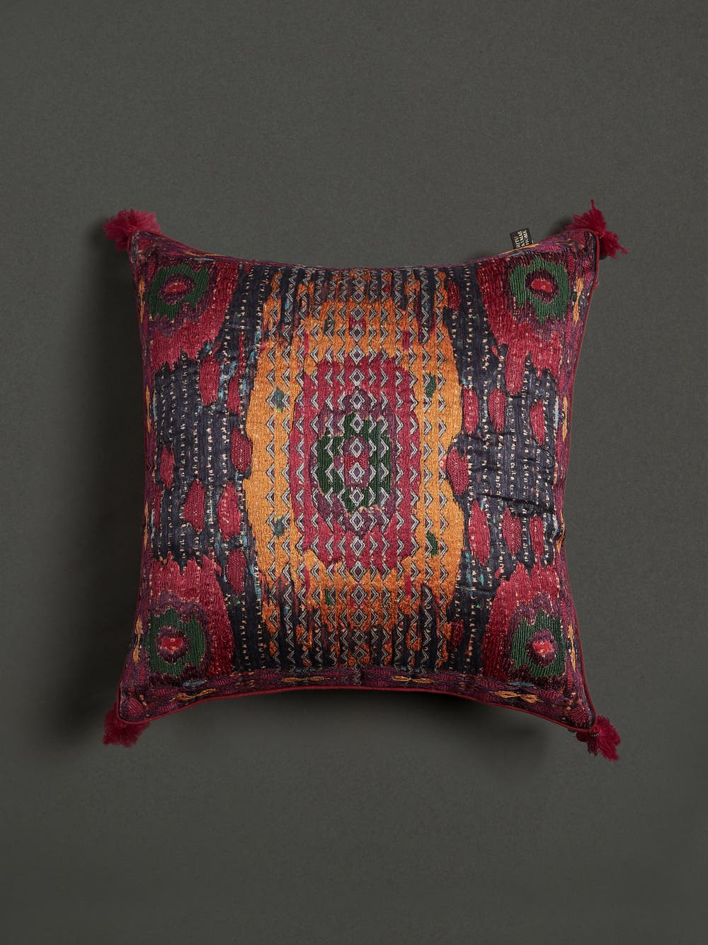 Multi Ikkat Print Cushion with Filler