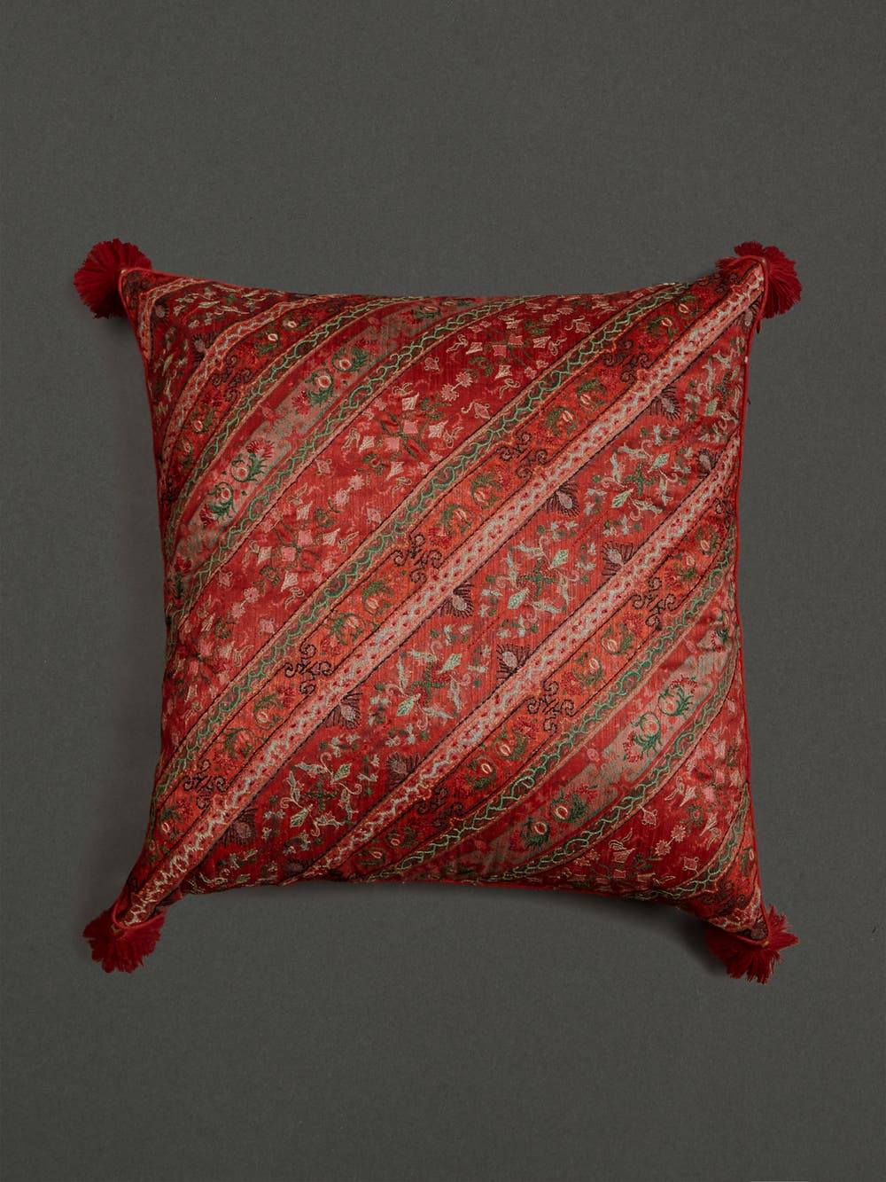 Multi Jamavar Print Square Cushion with Filler