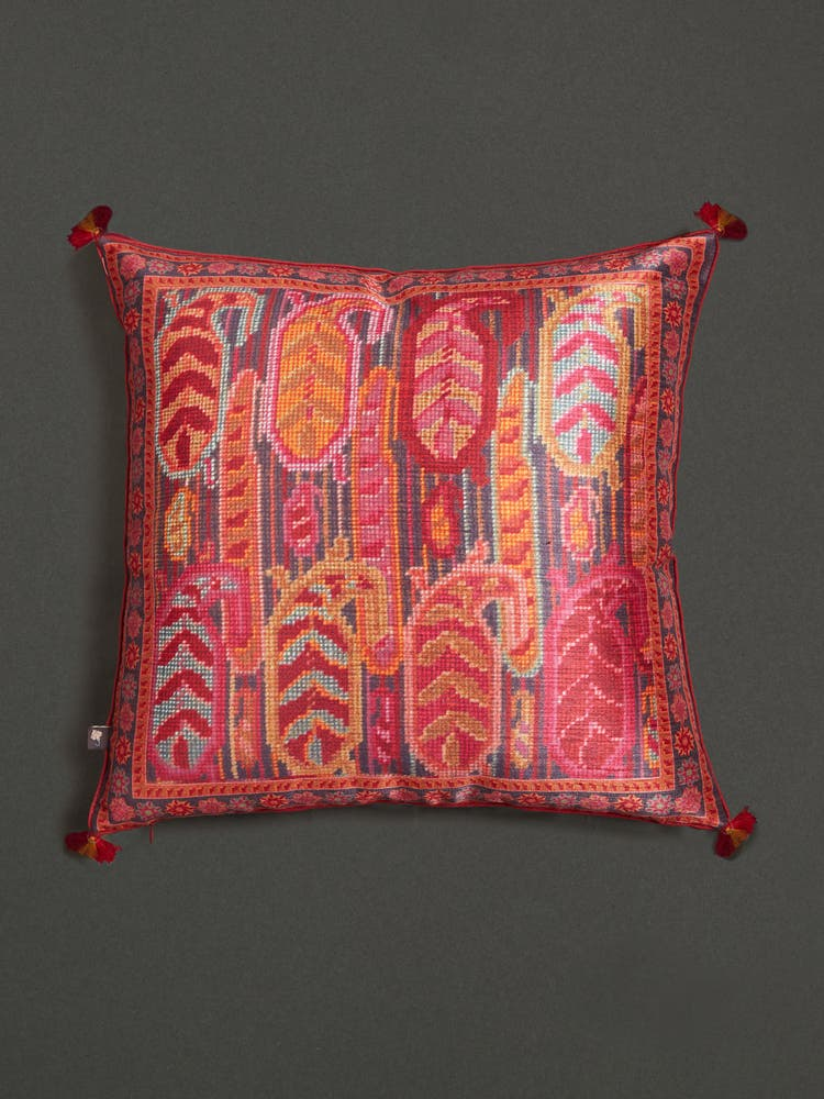 Maroon Cushion with Filler