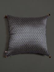 Black Printed Square Cushion with Filler