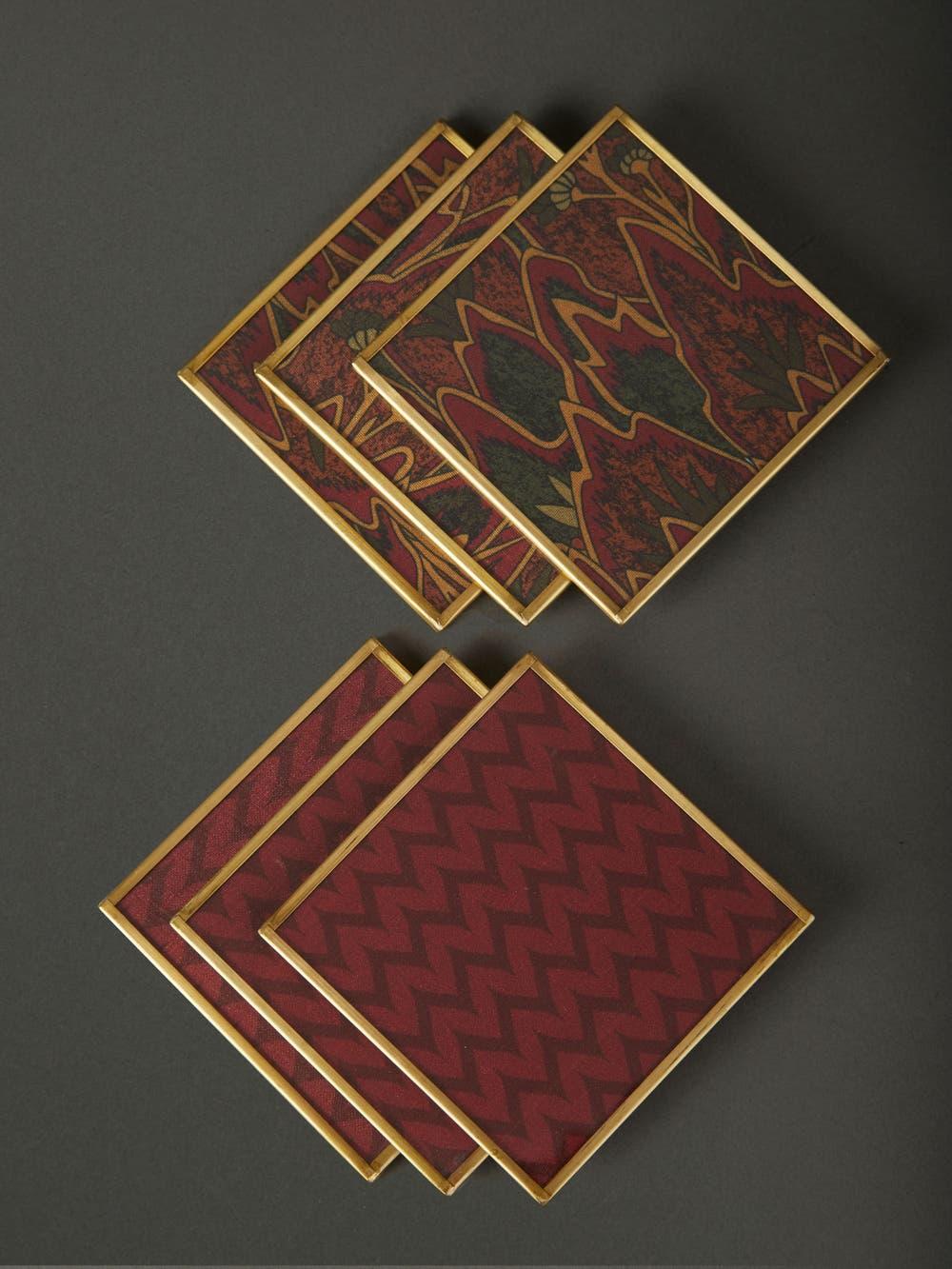 Baagh Print Coasters (Set of 6)