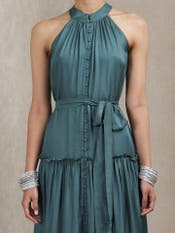 Teal Green Halter Dress