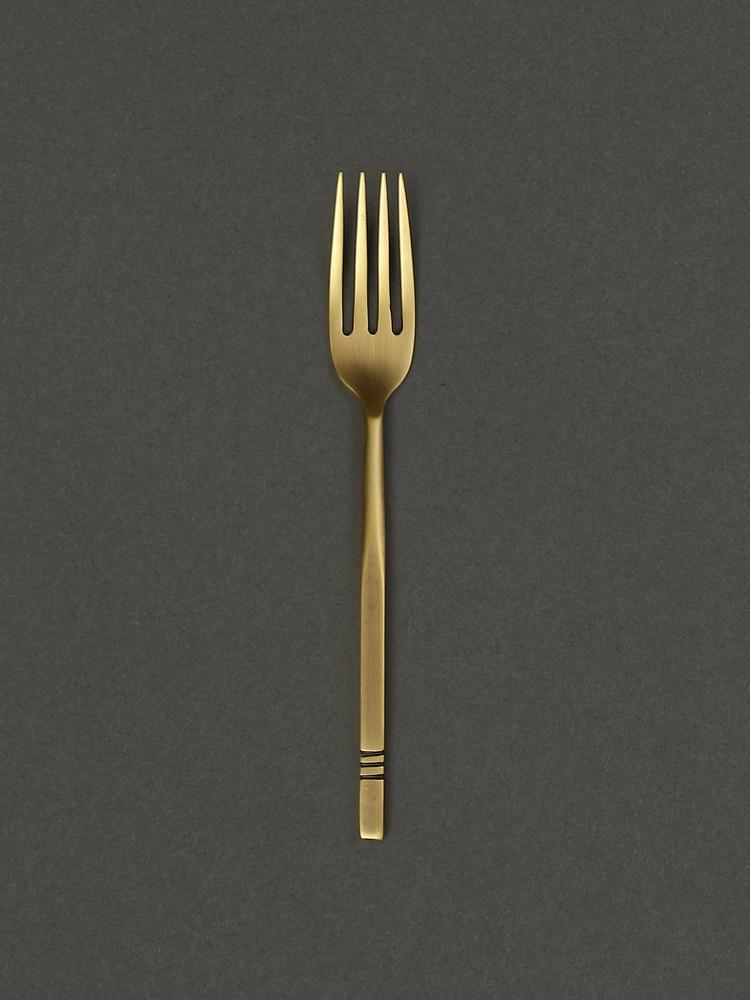 Brass Cochin Kansa Fork (Set Of 2)