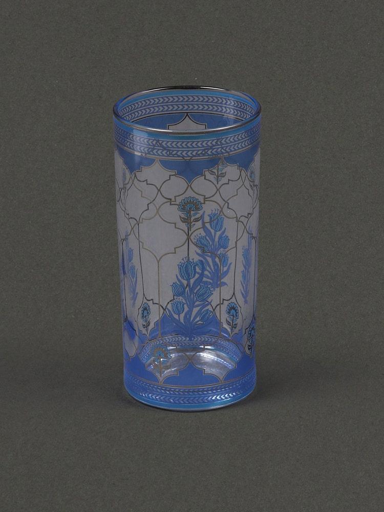 Blue Jalmahal Glass (Set Of 4)