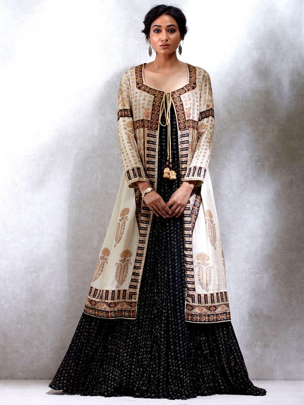 Aditi Rao Hydari in a Beige & Ivory Embroidered Kurta With Jacket