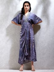 Powder Blue Cowl Kurta Dress