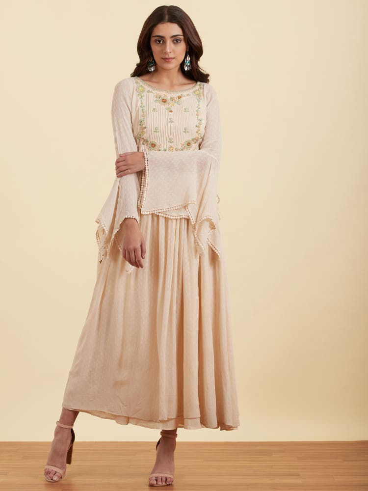 Blush Embroidered Georgette Kurta