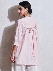 Pink Cotton Shirt Kurti