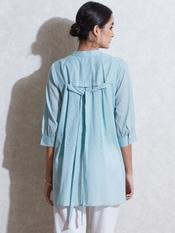 Sea Green Cotton Shirt Kurti