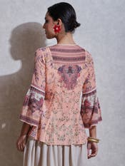 Pink Floral Print Kurti