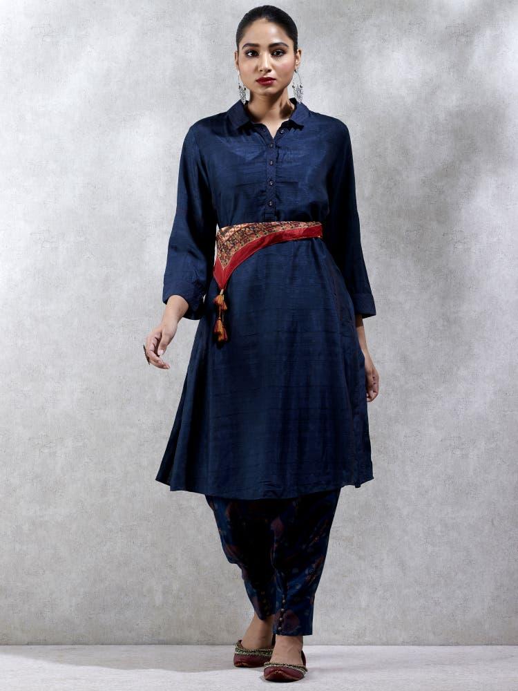 Navy Blue Shirt Kurti