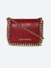 Red Leather Sling Bag