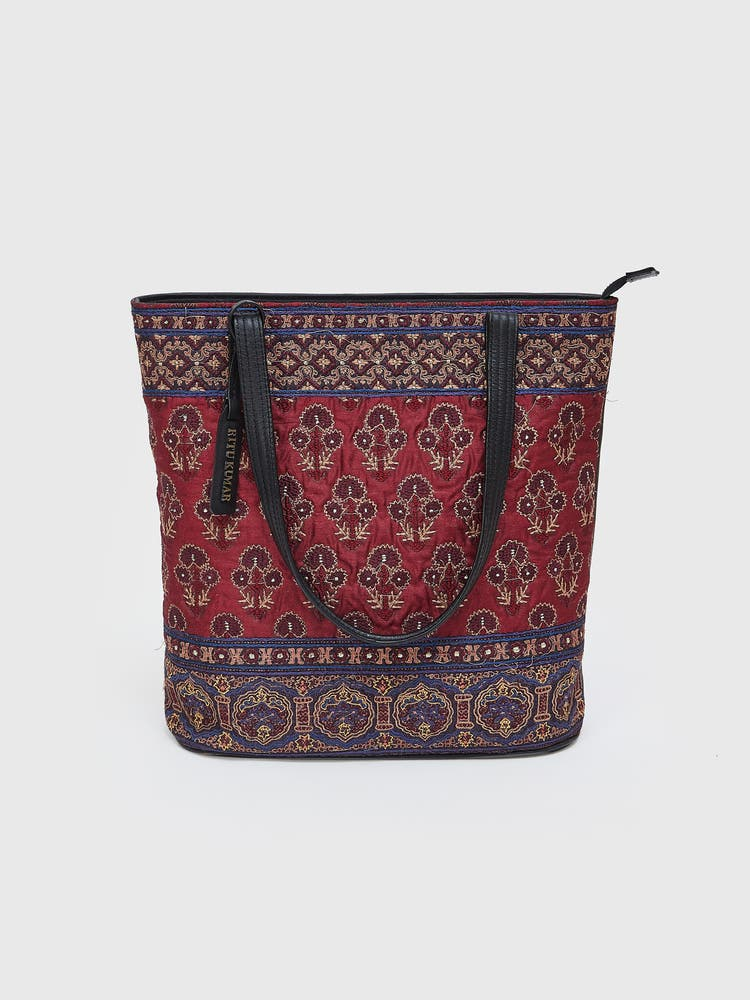 Wine Printed Tote Bag