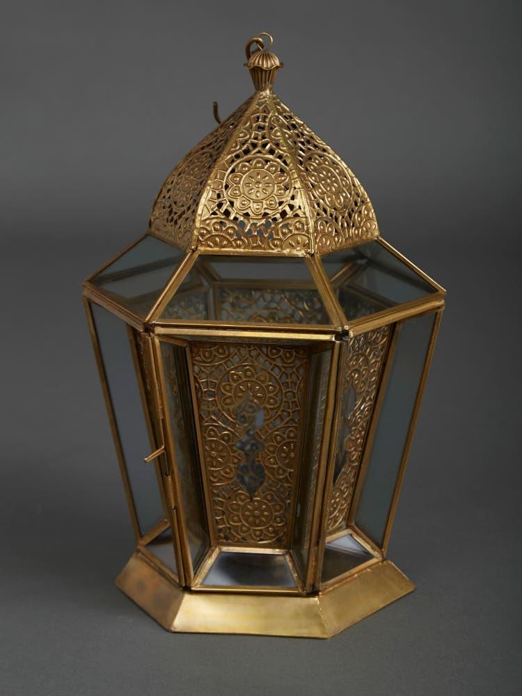 Antique Brass Glasshouse Lantern