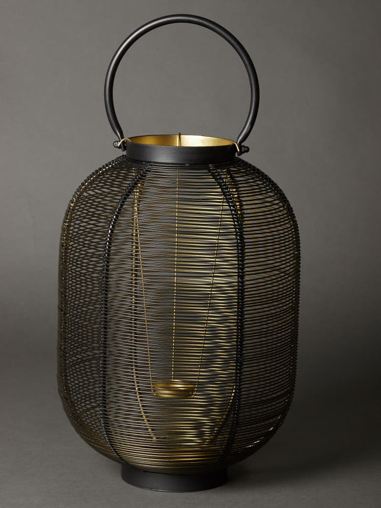 Black Wireframe Lantern (Small)
