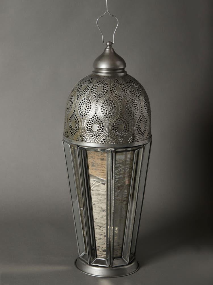 Antique Silver Brass Lantern