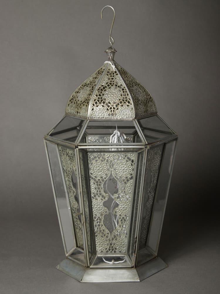 Antique Silver Glasshouse Lantern