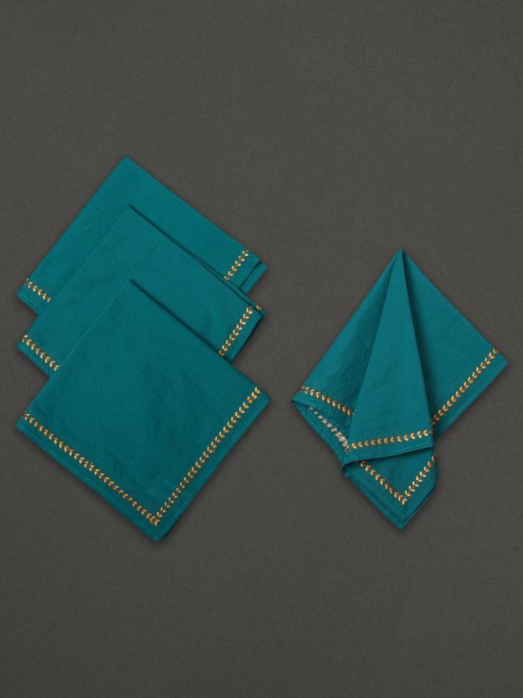 Turquoise Jal Mahal Dinner Napkin (Set of 4)