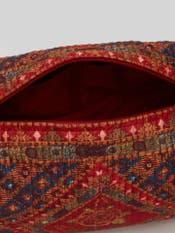 Red Kutch Print Pouch