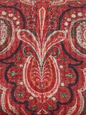 Rust Jamavar Print Pouch