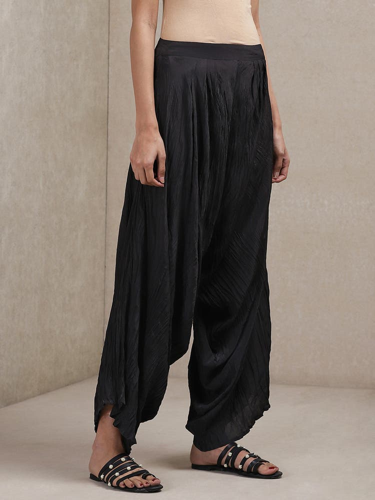 Black Crinckled Pants