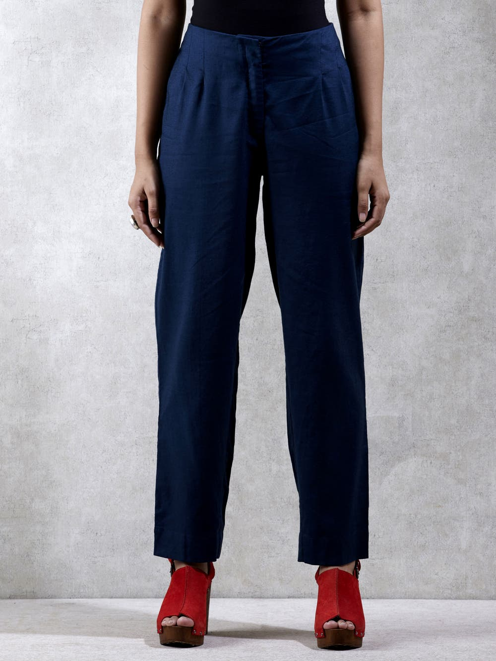 Navy Blue Solid  Trouser