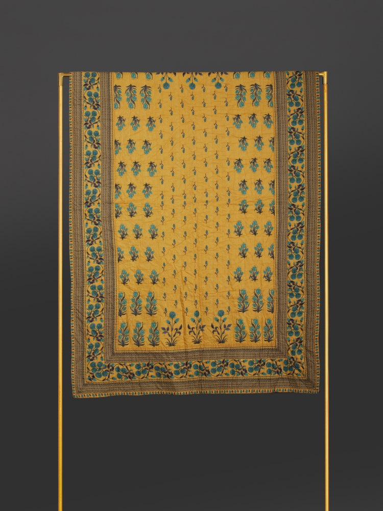 Yellow Jal Mahal Queen Size Quilt