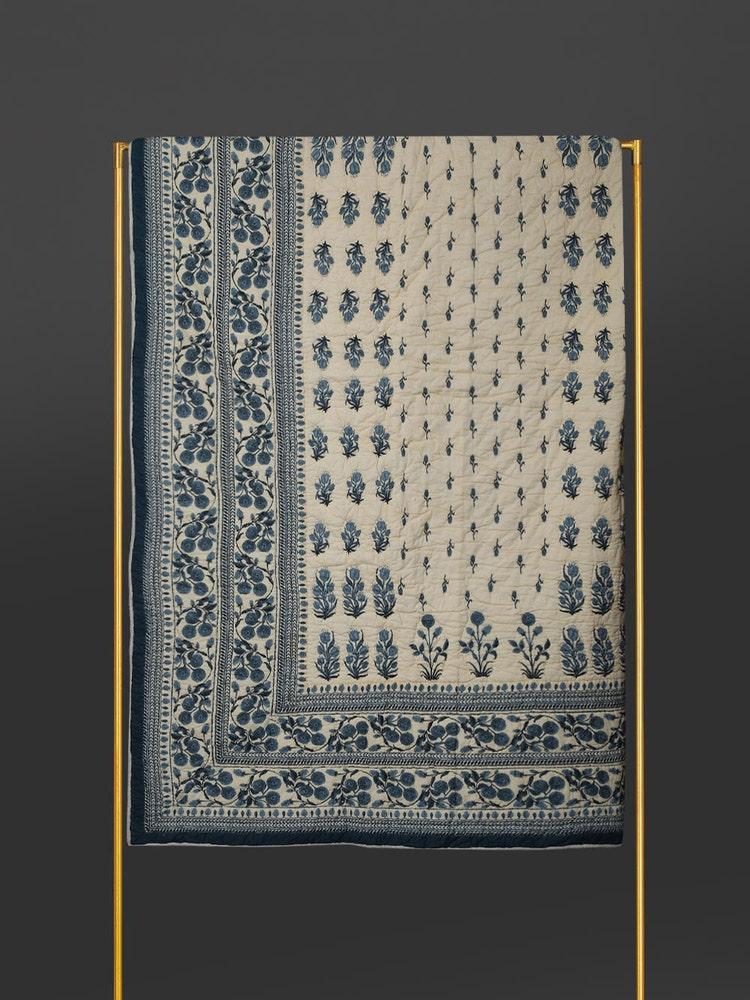 Blue Jalmahal Double Quilt