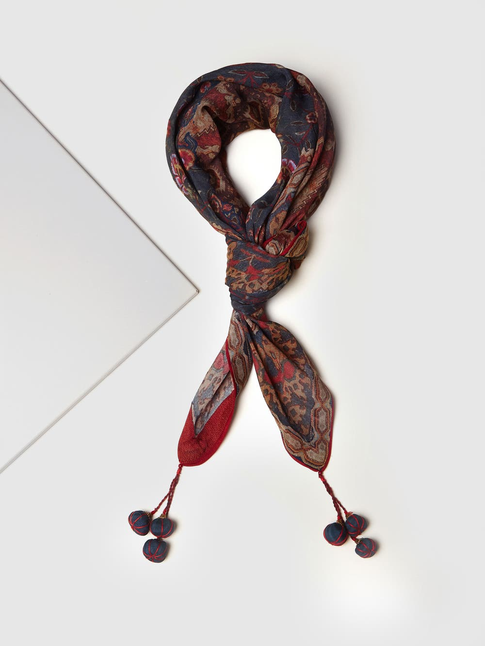 Multi Color Abstract Print Scarf
