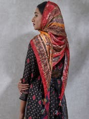 Red & Yellow Printed Scarf