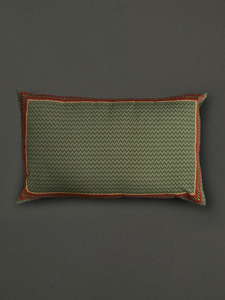 Green Baagh Pillow Sham with Filler