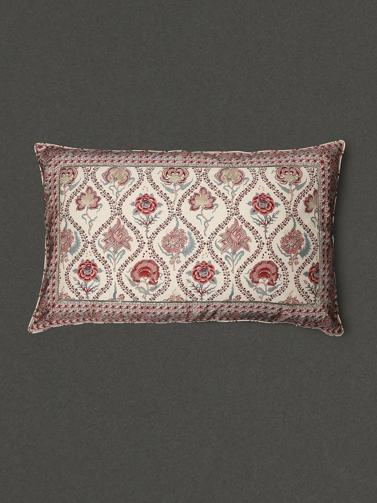 Ivory Lavana Printed Rectangle Pillow Sham With Filler