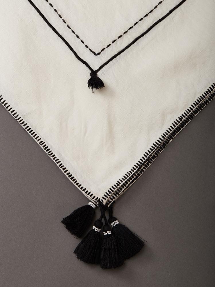 Black & White Awadh Tablecloth